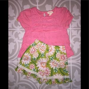 Matilda Jane shirt and Gigglemoon shorts